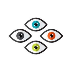 színes szemek